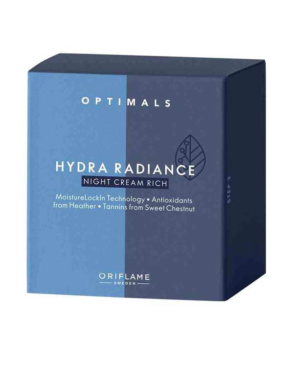 کرم شب مغذی مناسب پوست های خشک و حساس 50ml Optimals Hydra Radiance اوریفلیم
