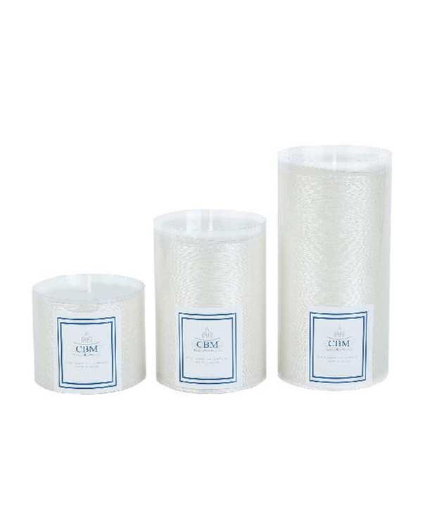 بسته 3 عددی شمع سفید مدل WE تاتی هوم