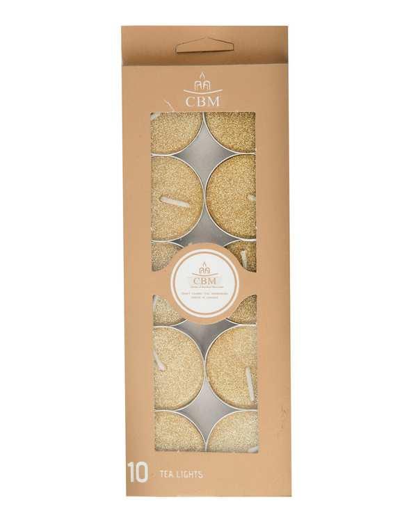بسته 10 عددی شمع وارمر مدل 003 طلایی تاتی هوم