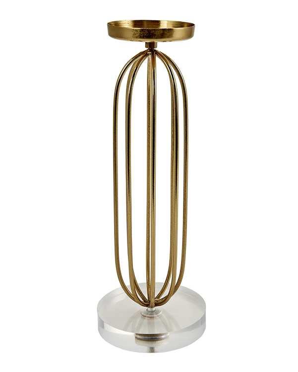 جاشمعی پایه دار برنجی مدل Afr Glamour Prizma طلایی کاراجا