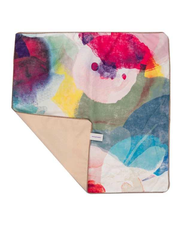 رومیزی مخمل مربع مدل TF4-04 چند رنگ 50×50 پرووال