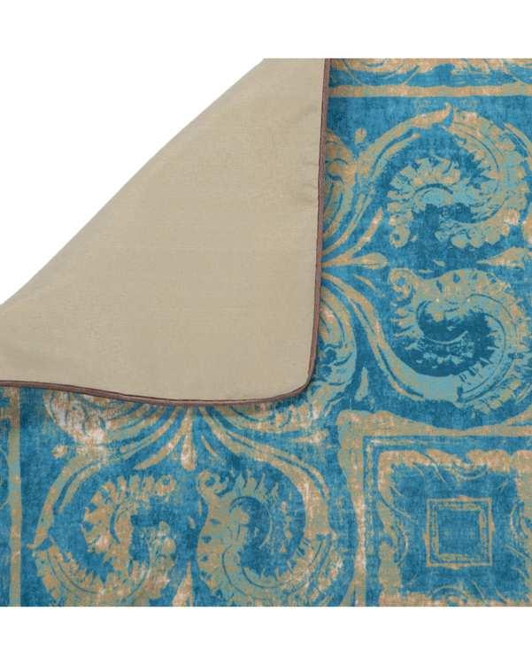 رومیزی مخمل مربع مدل TF4-74 آبی 50×50 پرووال