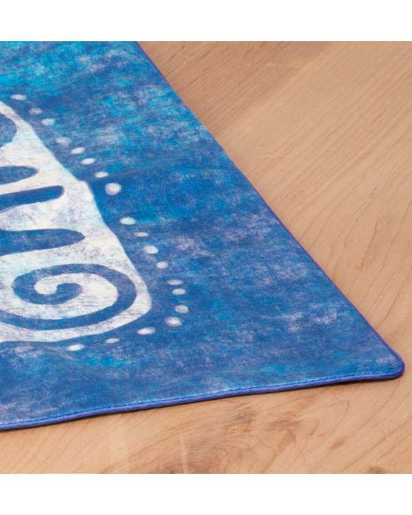 رومیزی مخمل مربع مدل TF6-01 آبی 50×50 پرووال