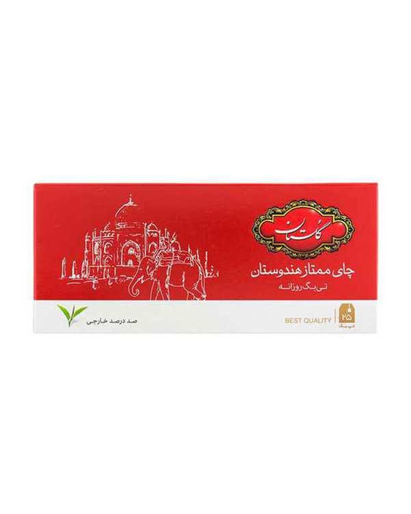 چای کیسه ای ممتاز هندوستان گلستان بسته 25 عددی