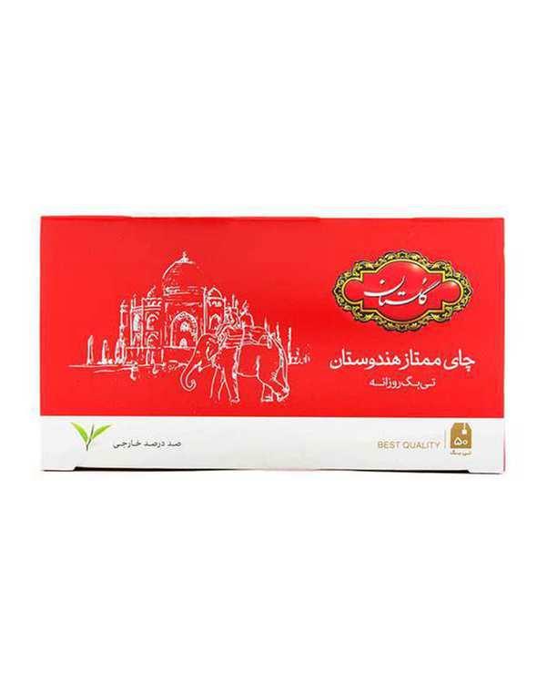 چای کیسه ای ممتاز هندوستان گلستان بسته 50 عددی