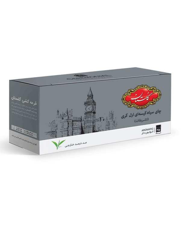 چای کیسه ای تشریفات ارل گری گلستان بسته 25 عددی