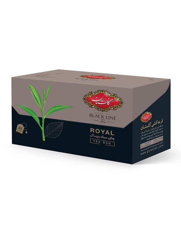 چای کیسه ای بلک لاین رویالگلستان بسته 25 عددی