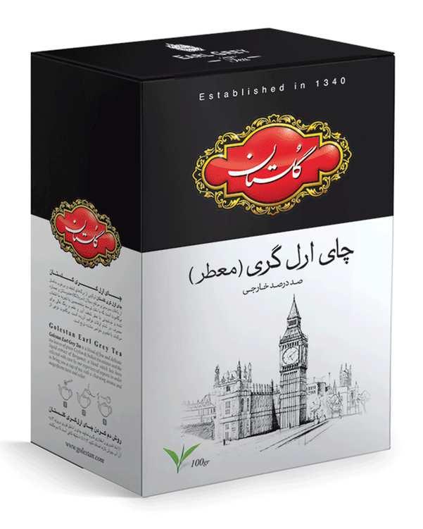 چای سیاه ارل گری 100 گرمی گلستان
