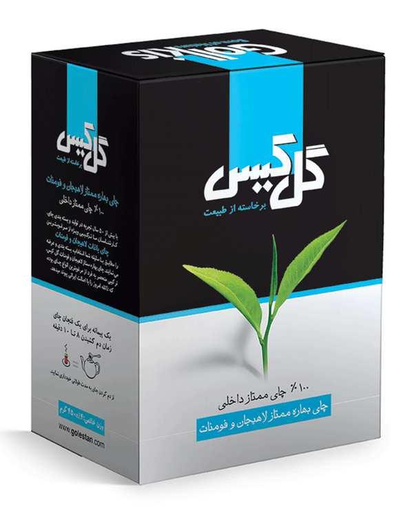 چای سیاه بهاره ممتاز لاهیجان450 گرمی گل کیس