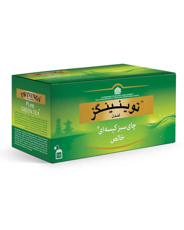 بسته 25 عددی چای سبز کیسه ای خالص توینینگز