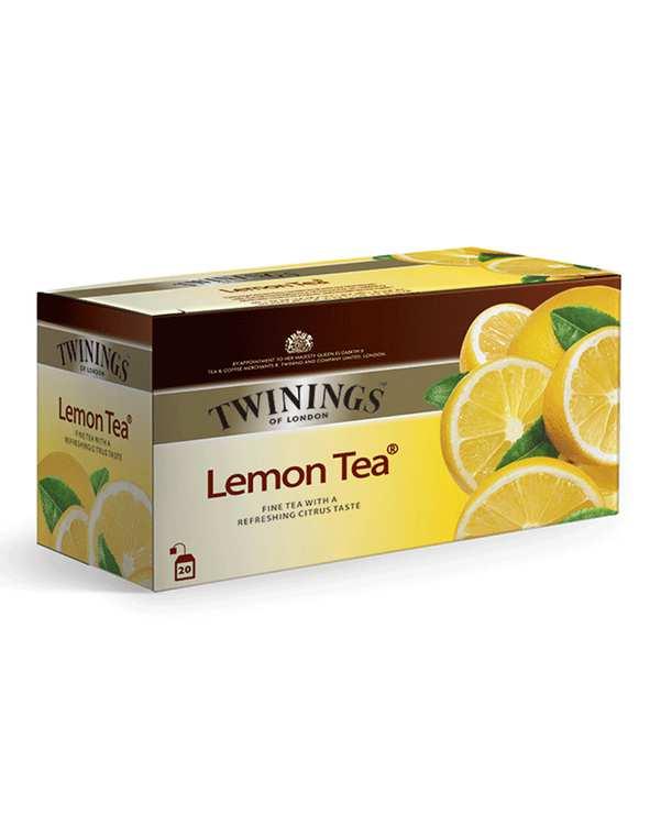 چای سیاه کیسه ای با طعم لیمو توینینگزبسته 20 عددی