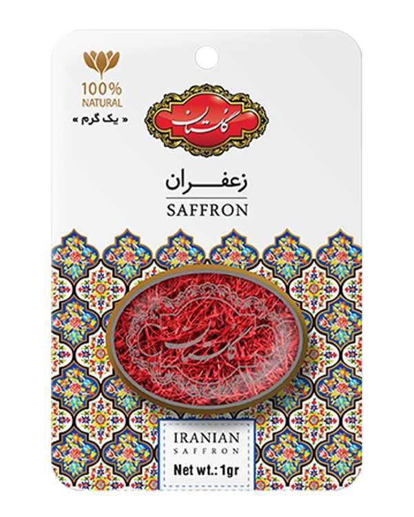 زعفران یک گرمی کارتی طرح خاتم گلستان