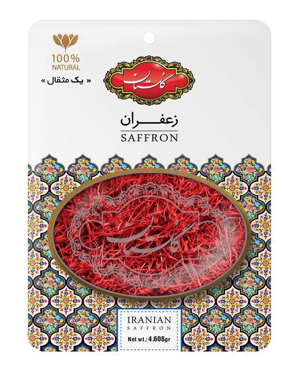 زعفران یک مثقالی کارتی طرح خاتم گلستان