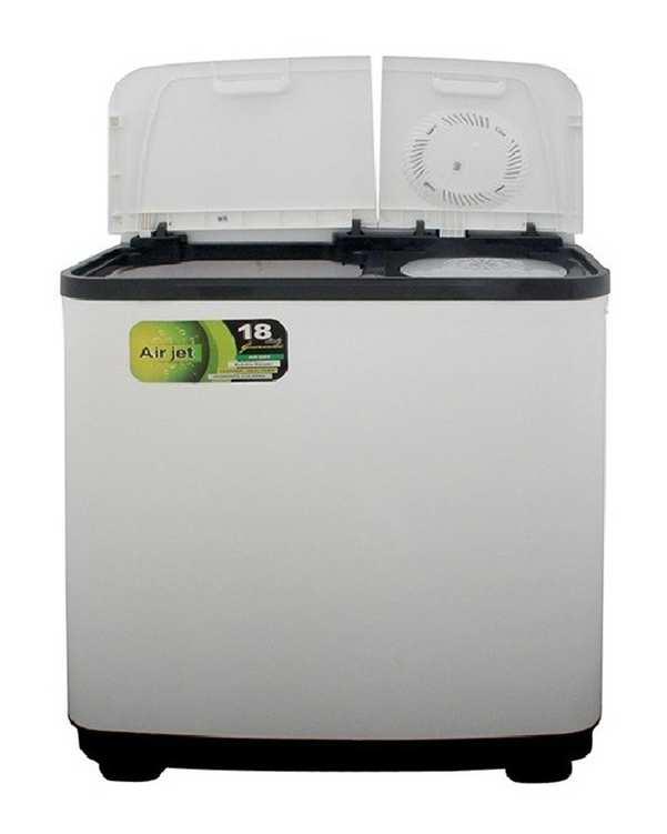 ماشین لباسشویی دوقلو نیمه اتوماتیک مدل PWT 9654AJ سفید 9.6 کیلوگرمی پاکشوما