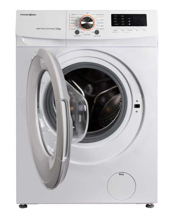 ماشین لباسشویی اتوماتیک 6 کیلویی مدل TFU 63100 WS سفید سیلور پاکشوما