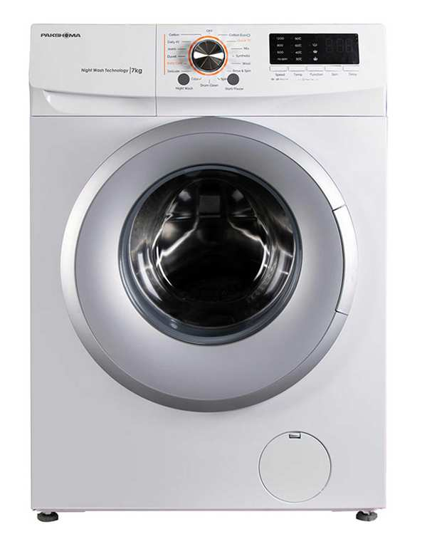 ماشین لباسشویی اتوماتیک 7 کیلویی مدل TFU 73200 WS سفید سیلور پاکشوما