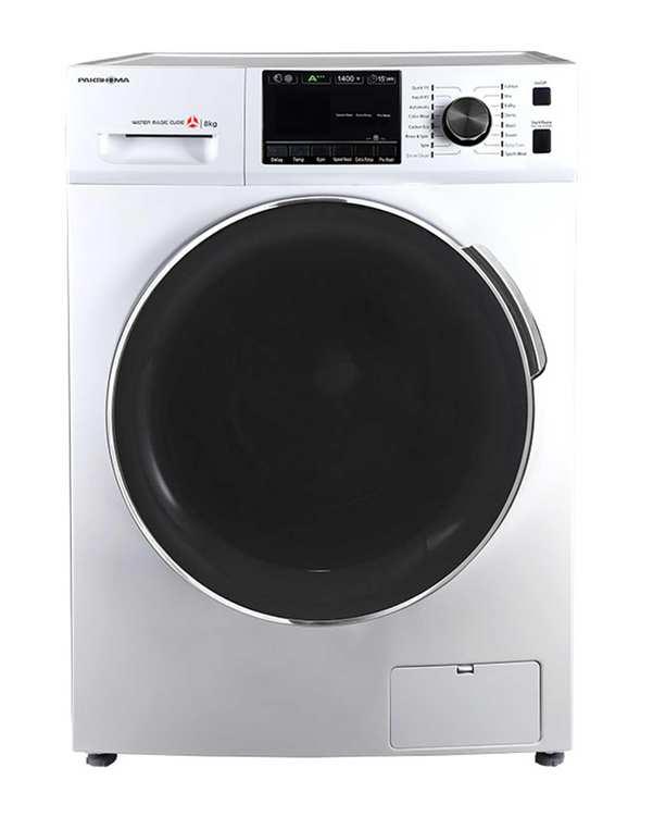 ماشین لباسشویی اتوماتیک 8 کیلویی مدل TFU 84401 WT سفید کروم پاکشوما