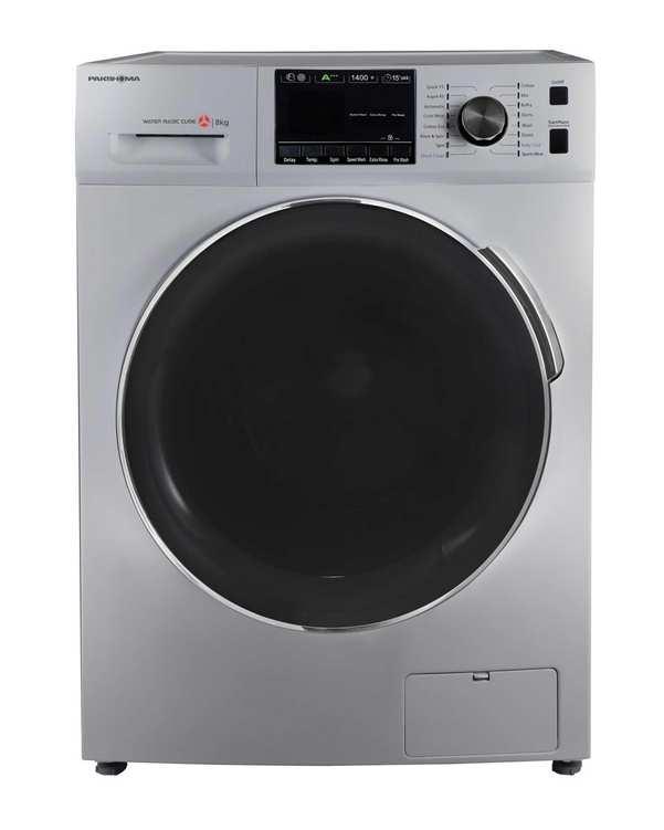 ماشین لباسشویی اتوماتیک 8 کیلویی مدل TFU 84401 ST نقره ای کروم پاکشوما