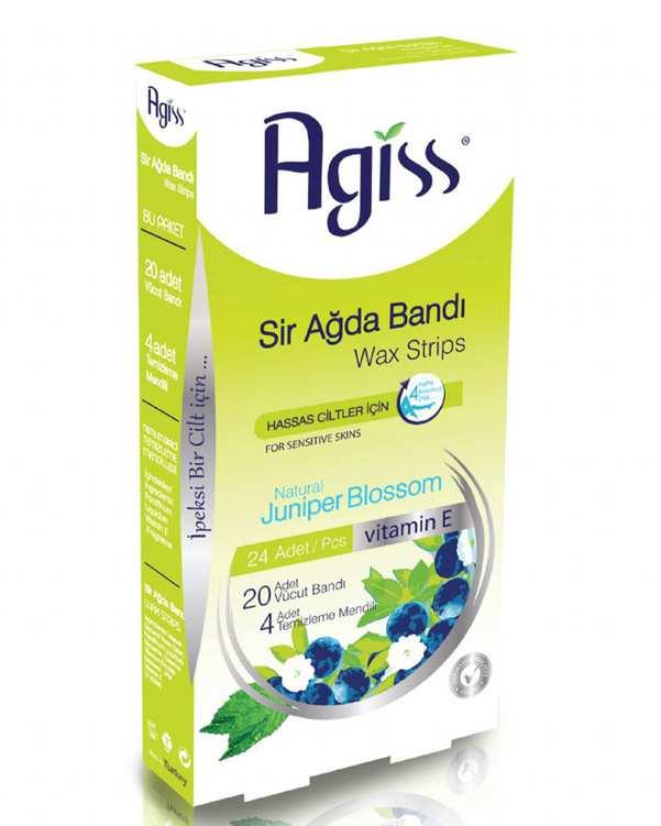 بسته 24 عددی موم موبر نواری بدن و دستمال مرطوب مناسب پوست حساس آگیس