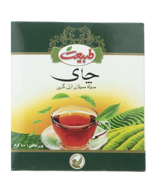 چای سیاه سیلان ارل گری 100 گرمی طبیعت