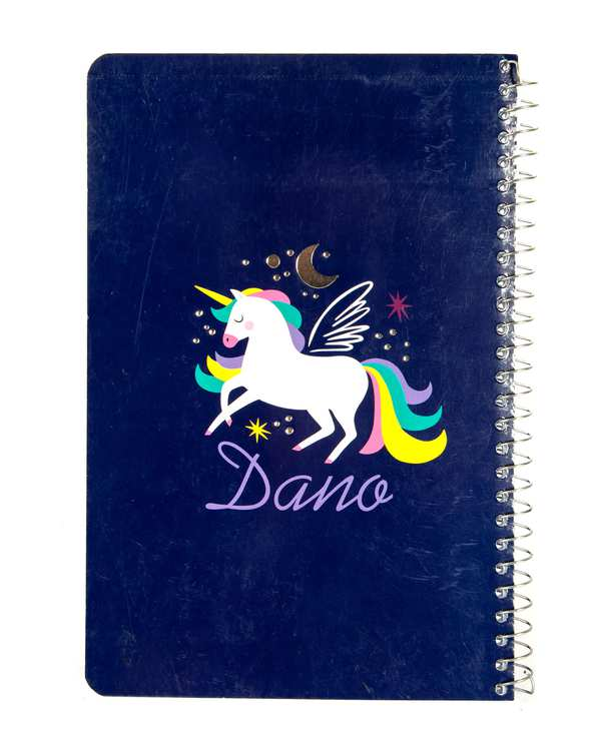 دفتر سیمی خط دار 80 برگ سری Unicorn دانو
