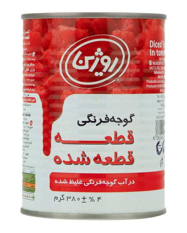 کنسرو گوجه فرنگی خرد شده 380 گرمی روژین