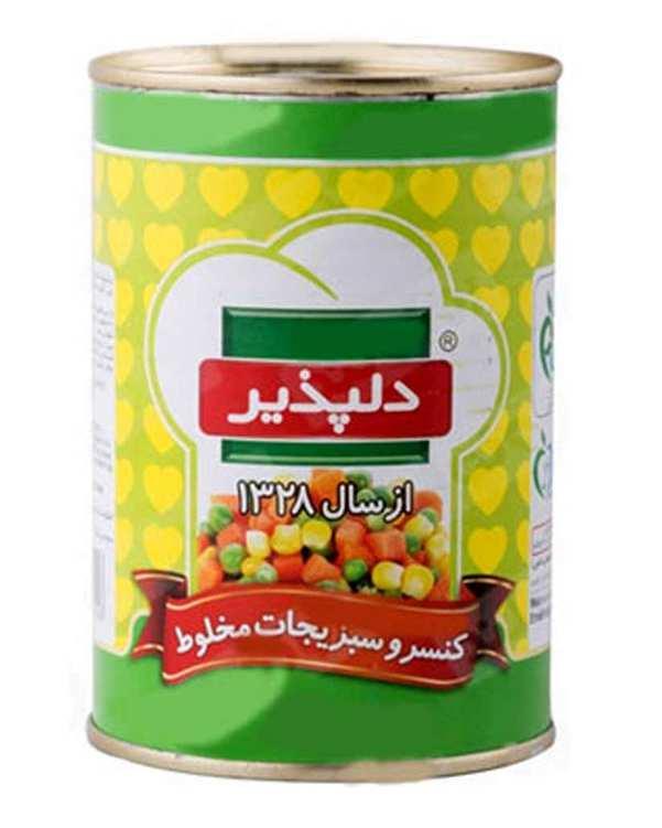 کنسرو سبزیجات مخلوط 420 گرمی دلپذیر