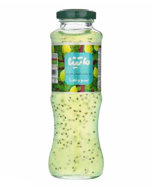 نوشیدنی دانه ریحان با طعم لیمو و نعناع 280 گرمی ماتینا