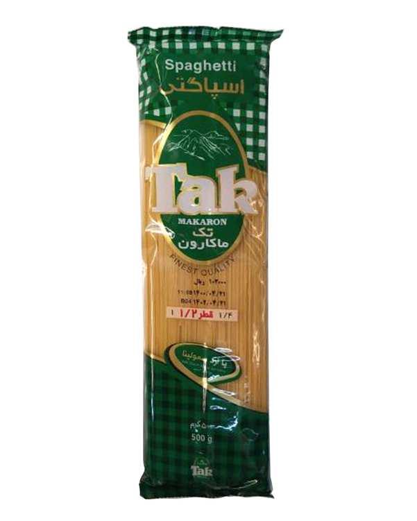 اسپاگتی قطر 1.2 حاوی ویتامین 500 گرمی تک ماکارون