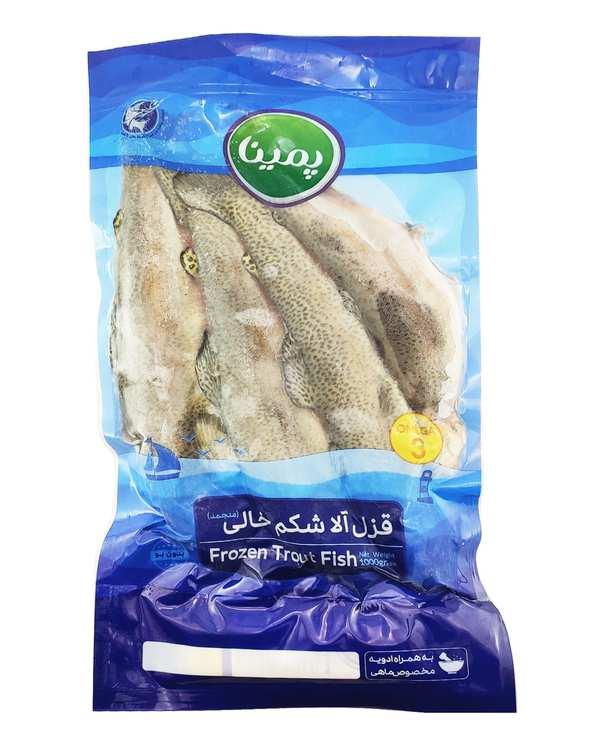 ماهی قزل آلا شکم خالی منجمد 1 کیلوگرمی پمینا