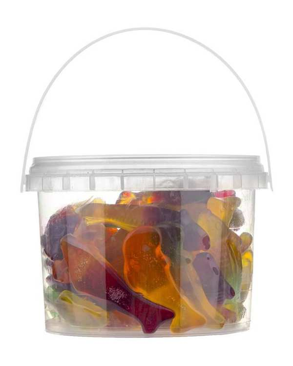 پاستیل میوه ای طرح ماهی 300 گرمی شیرین عسل