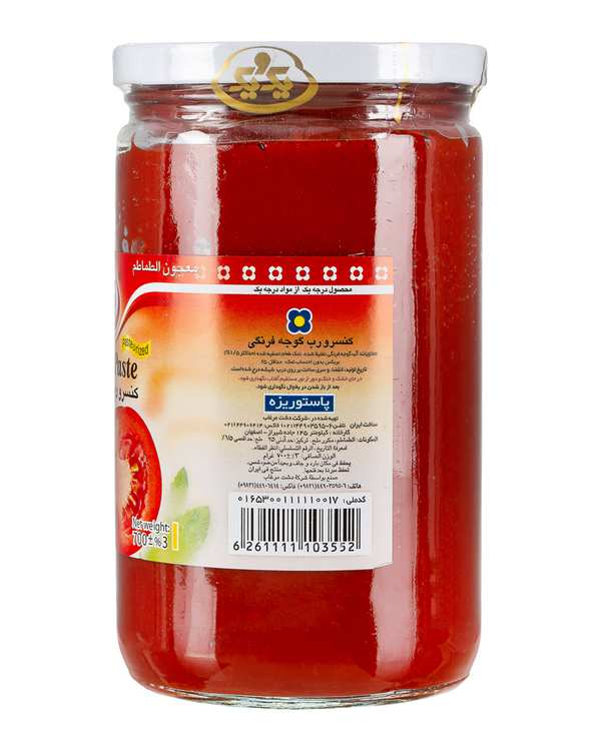 رب گوجه فرنگی شیشه ای 700 گرمی یک و یک