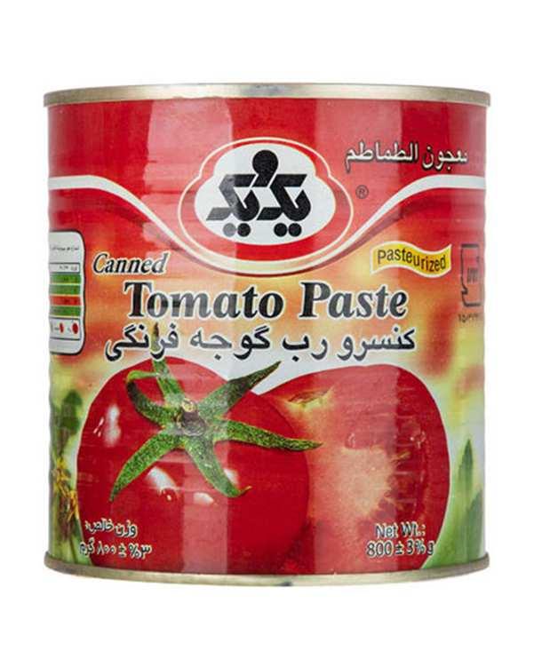 کنسرو رب گوجه فرنگی آسان باز شو 800 گرمی یک و یک