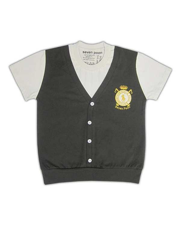 تی شرت پسرانه نخی قهوه ای سون پون
