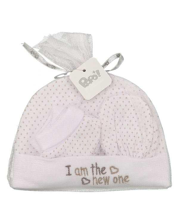 ست 3 تکه دخترانه نوزادی کد Newone224 سفید خال خالی پاپو