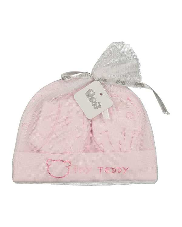 ست 3 تکه نوزادی کد Teddy343 صورتی پاپو
