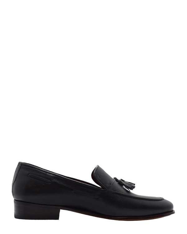 کفش چرم طبیعی گاوی مردانه رسمی مدل رهام مشکیدگرمان