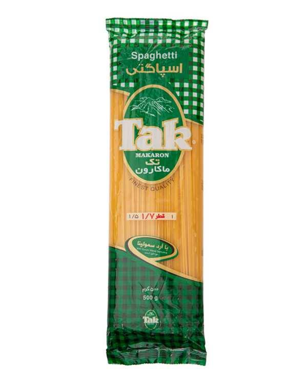 اسپاگتی قطر 1.7 حاوی ویتامین 500 گرمی تک ماکارون