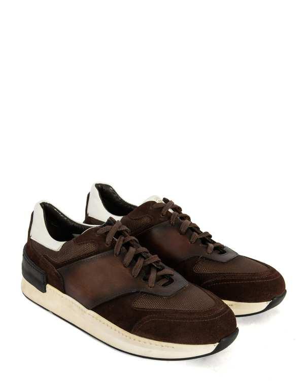 کفش چرم کژوال مردانه قهوه ای پائولو مارتینی