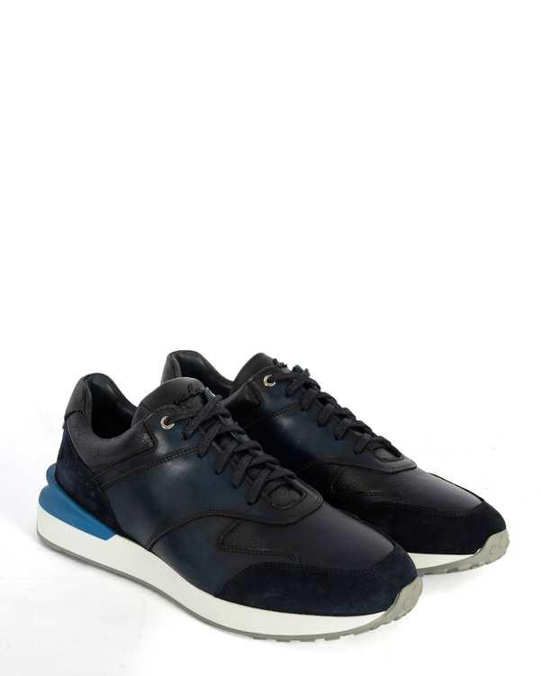 کفش چرم کژوال مردانه سرمه ای پائولو مارتینی