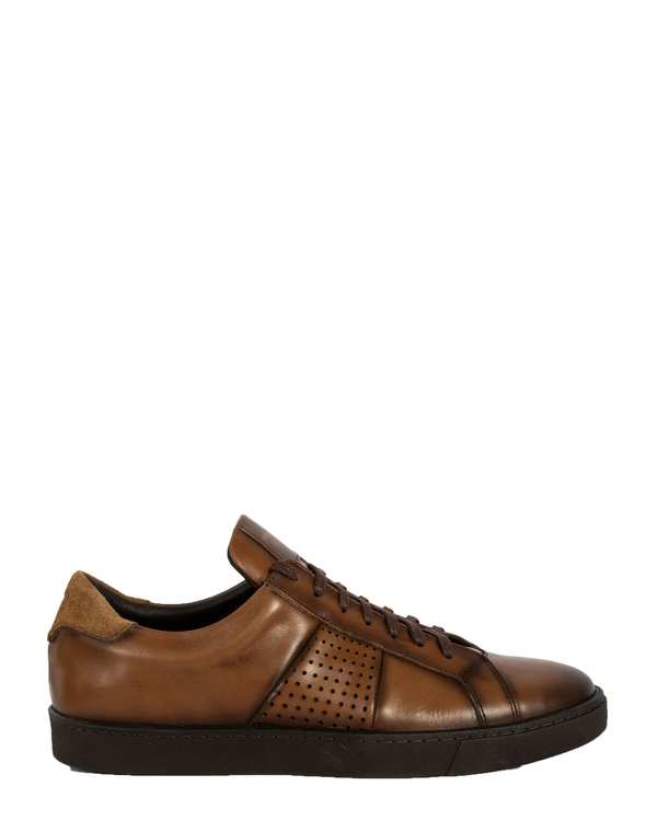 کفش چرم طبیعی مردانه قهوه ای پائولو مارتینی