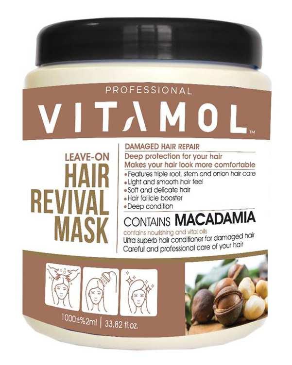 ماسک مو با آبکشی حاوی ماکادمیا 1000 میلی لیتری ویتامول
