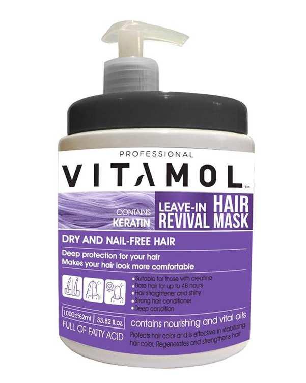 ماسک مو بدون آبکشی حاوی کراتین 1000 میلی لیتری ویتامول
